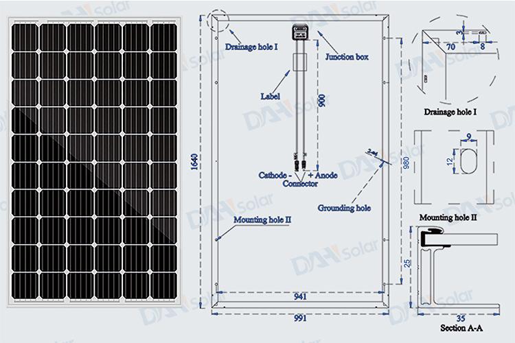 Air Serial Mono Solar Module 60cells 270w 305w Solar Panel