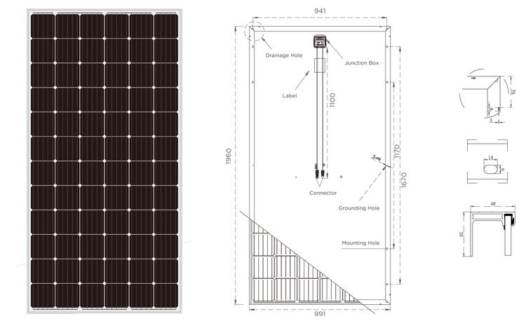 mono solar panel 340w