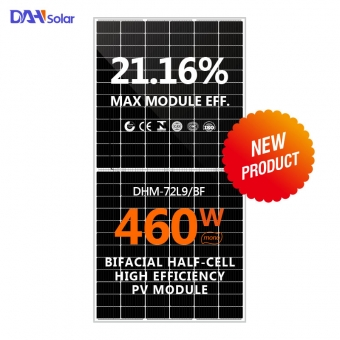 430~460W Solar Panel Bifacial Half-cell High Efficiency PV Module