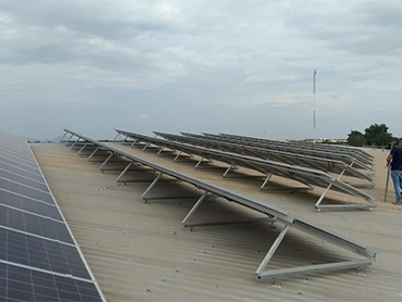 Mexico 65kw installed on factory rooftop