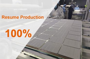 DAH Solar resume production rate has reached 100%