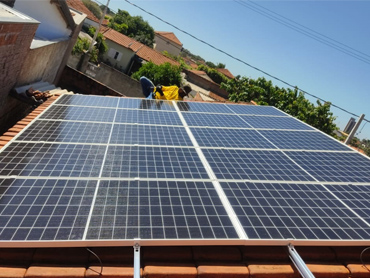 Brazil 5KW 440W poly PV Module On-Grid Solar Home System